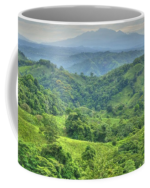 Hdr Coffee Mug featuring the photograph Panama Landscape by Heiko Koehrer-Wagner