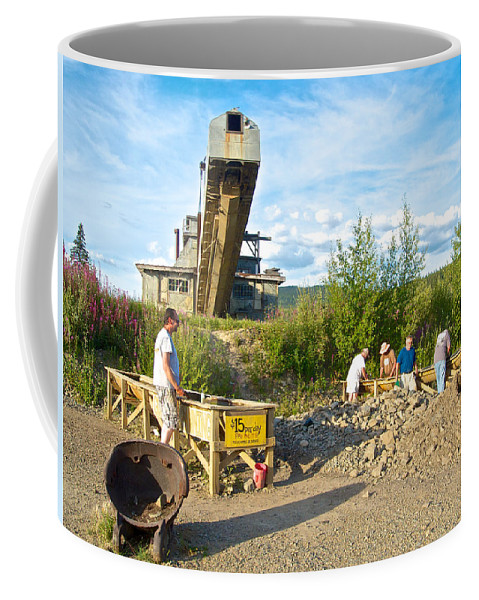 Panning For Gold Coffee Mug featuring the photograph Panning For Gold In Chicken-ak- by Ruth Hager