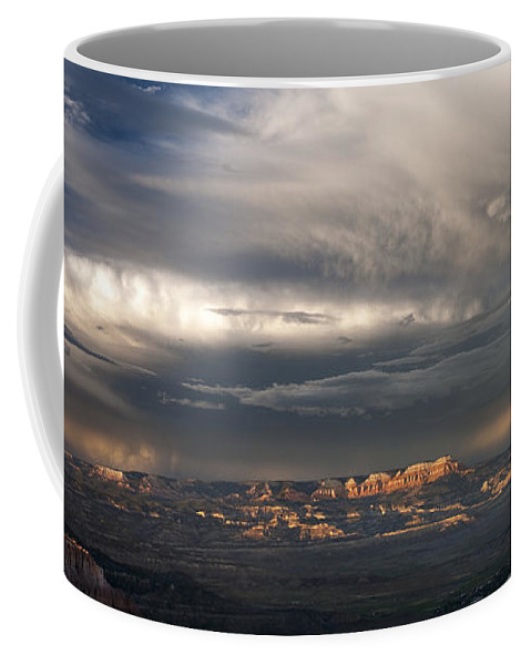 North America Coffee Mug featuring the photograph Panorama Clearing Summer Storm Bryce Canyon National Park Utah by Dave Welling