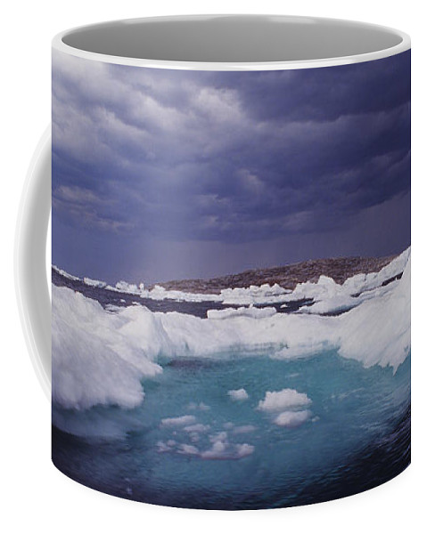 North America Coffee Mug featuring the photograph Panorama Ice Floes In A Stormy Sea Wager Bay Canada by Dave Welling
