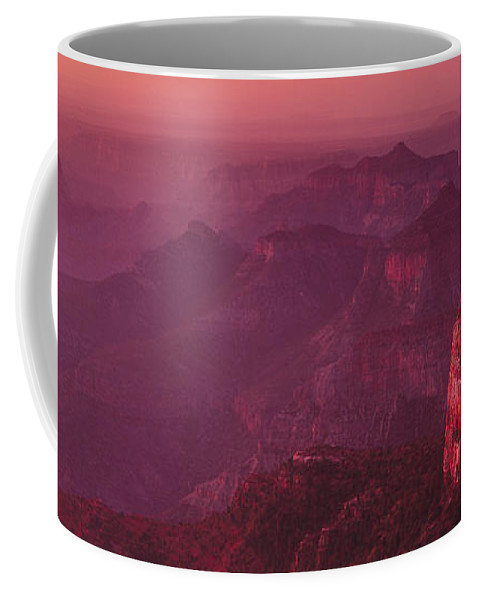 Landscape Coffee Mug featuring the photograph Panorama Pre-dawn At Point Imperial Grand Canyon National Park by Dave Welling