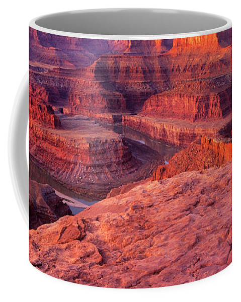 Dead Horse Point Coffee Mug featuring the photograph Panorama Sunrise At Dead Horse Point Utah by Dave Welling