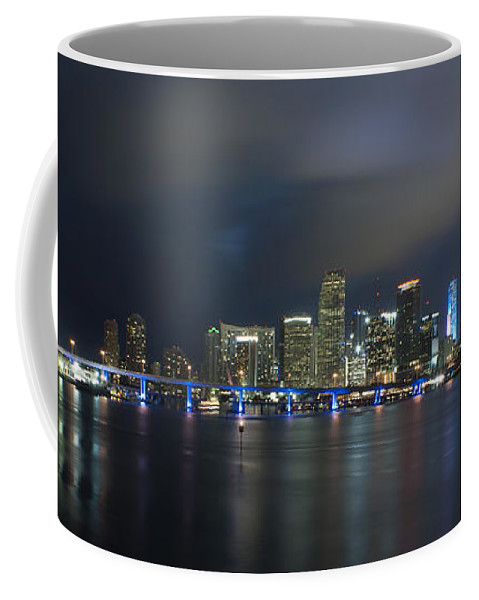 America Coffee Mug featuring the photograph Panoramic Of Miami Florida by Anthony Totah
