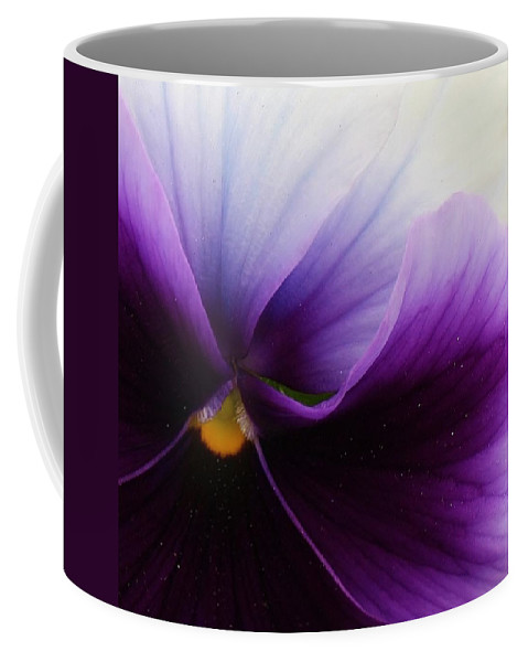 Flora Coffee Mug featuring the photograph Pansy Abstract by Bruce Bley