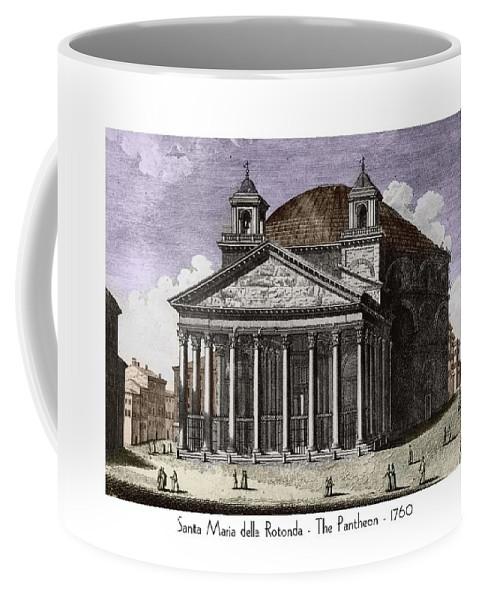 Pantheon Coffee Mug featuring the digital art Pantheon Santa Maria Della Rotonda by John Madison