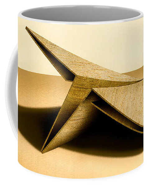 Paper Airplane Coffee Mug featuring the photograph Paper Airplanes Of Wood 7 by YoPedro