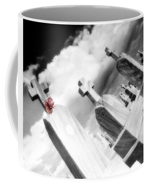 Graveyard Coffee Mug featuring the photograph Paper Flower by Gothicrow Images