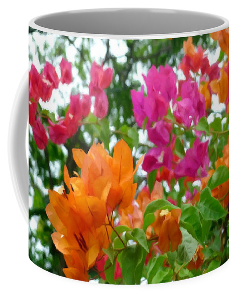 Paper Flower Coffee Mug featuring the painting Paper Flower by Jeelan Clark