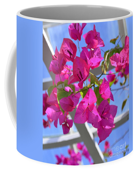Paper Coffee Mug featuring the photograph Paper Flowers by Kathleen Struckle