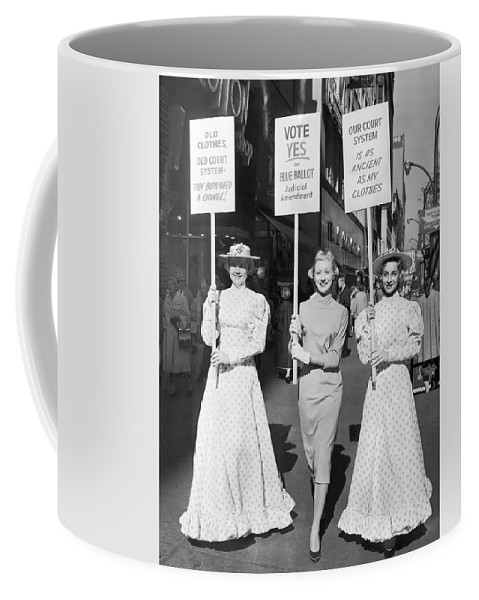 1958 Coffee Mug featuring the photograph Parade For Court Reform by Underwood Archives