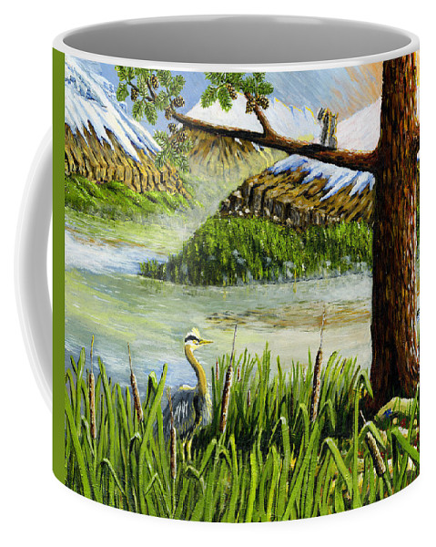 Lake Coffee Mug featuring the painting Paradise by Carey MacDonald