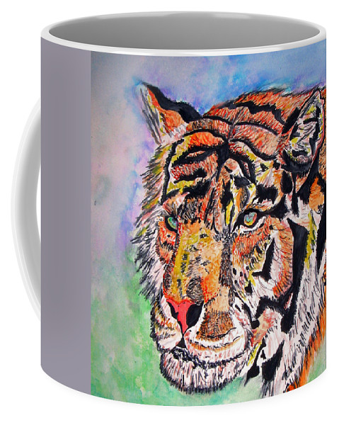 Abstract Coffee Mug featuring the painting Paradise Dream by Crystal Hubbard