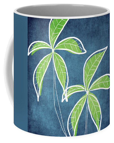 Palm Trees Coffee Mug featuring the painting Paradise Palm Trees by Linda Woods
