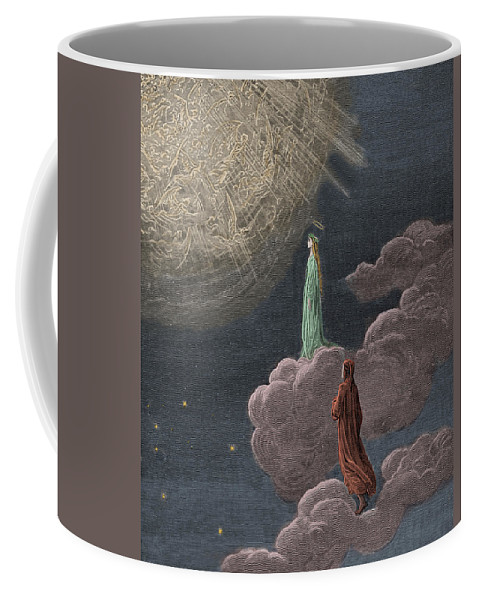 Gustave Dore Coffee Mug featuring the painting Paradiso Canto Fourteen by Gustave Dore
