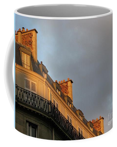 Paris Coffee Mug featuring the photograph Paris At Sunset by Ann Horn