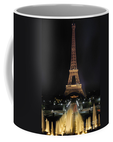 Architecture Coffee Mug featuring the photograph Paris: Eiffel Tower by Granger