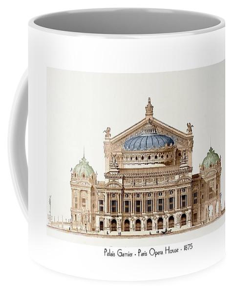 Paris Coffee Mug featuring the digital art Paris Opera - 1875 by John Madison