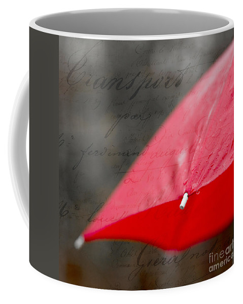 Red Coffee Mug featuring the photograph Paris Spring Rains by Edward Fielding