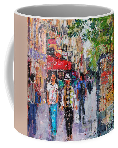 Abstract Coffee Mug featuring the painting Paris Street by Sylvia Paul