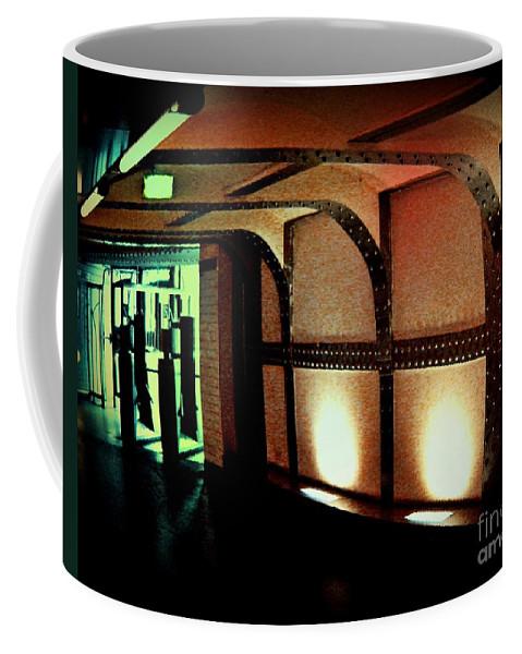 Subway Coffee Mug featuring the photograph Paris Subway Entrance by John Malone
