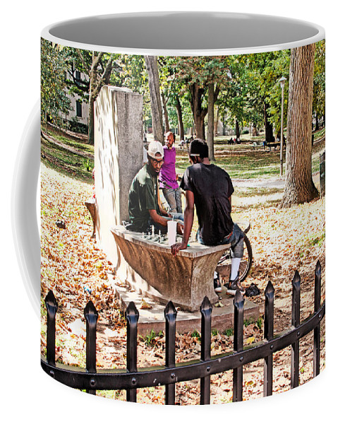 Germantown Coffee Mug featuring the photograph Park Games by Alice Gipson