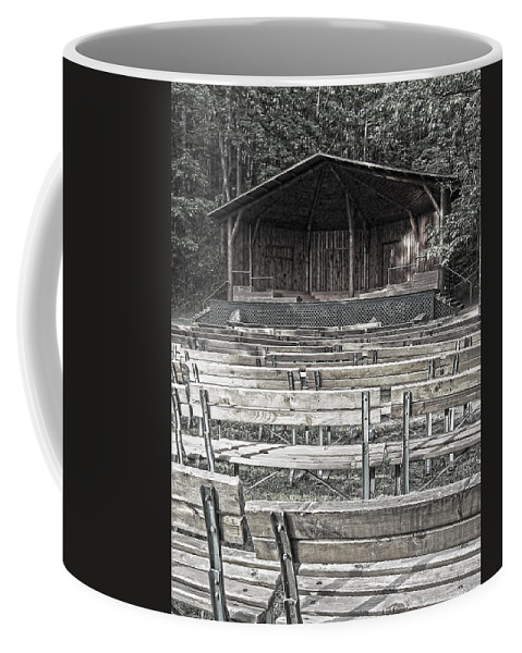 Park Coffee Mug featuring the digital art Park Pavilion Stage by Phil Perkins