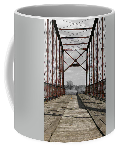 Unique Coffee Mug featuring the photograph Parke Truss by Dylan Punke