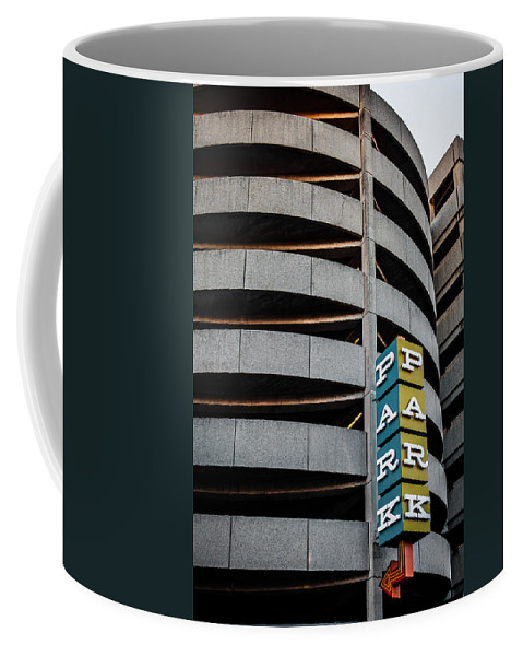 Architecture Coffee Mug featuring the photograph Parking In The Round by Melinda Ledsome
