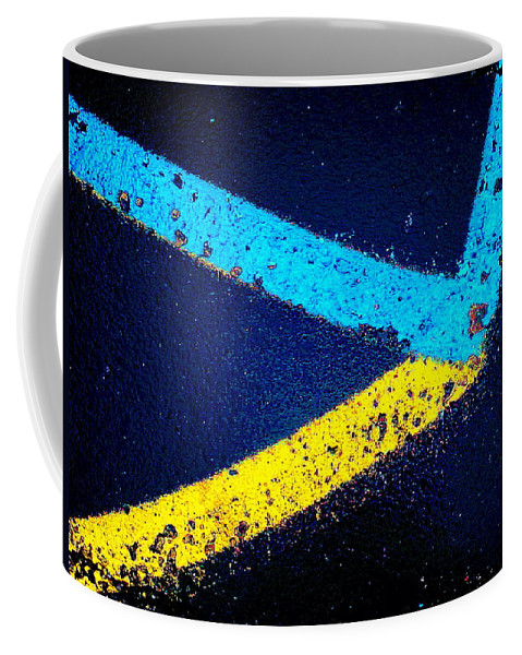 Abstract Coffee Mug featuring the photograph Parking Lot by Daniel Thompson