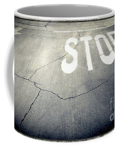 Street Snapshot Coffee Mug featuring the photograph Parking Lot No.44 by Fei A
