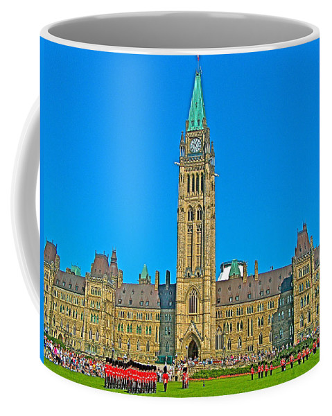 Parliament Building In Ottawa Coffee Mug featuring the photograph Parliament Building In Ottawa-on by Ruth Hager