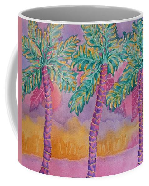 Palm Tree Coffee Mug featuring the painting Party Palms by Rhonda Leonard