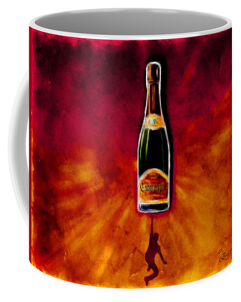 Champagne Coffee Mug featuring the digital art Party Time by Ericamaxine Price