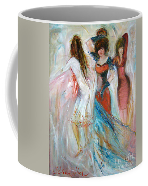 Contemporary Art Coffee Mug featuring the painting Party Time by Silvana Abel
