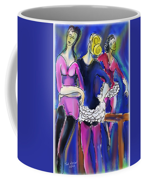 Ballet Art Paintings Coffee Mug featuring the painting Pas De Deu by Ted Azriel
