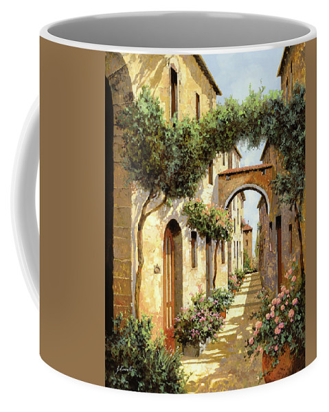 Landscape Coffee Mug featuring the painting Passando Sotto L'arco by Guido Borelli