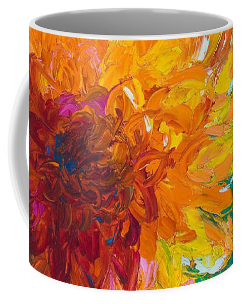 Dahlia Coffee Mug featuring the painting Passion by Talya Johnson