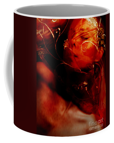 Festblues Coffee Mug featuring the photograph Passionate Dreams.. by Nina Stavlund