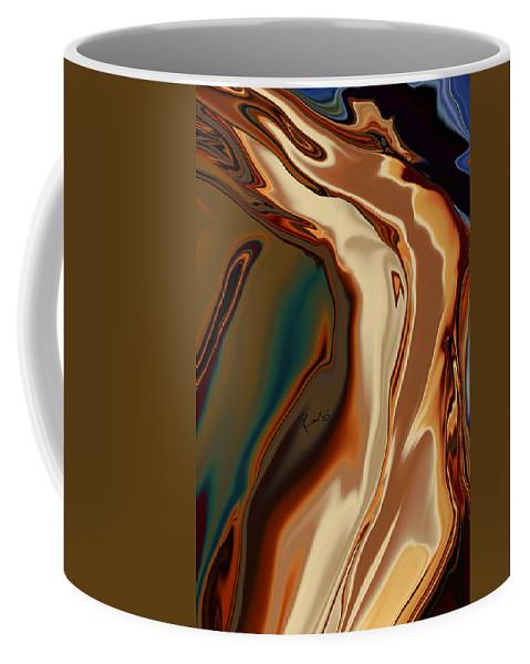 Abstract Coffee Mug featuring the digital art Passionate Kiss by Rabi Khan