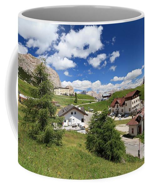 Alto Adige Coffee Mug featuring the photograph Passo Gardena - Gardena Pass by Antonio Scarpi