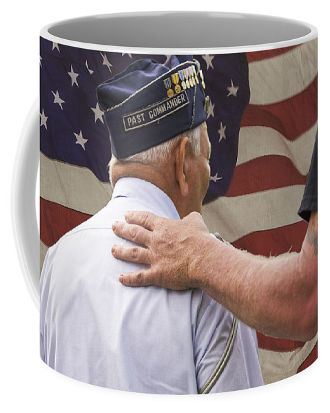 Brotherhood Coffee Mug featuring the photograph Past Commander by Steve Gravano