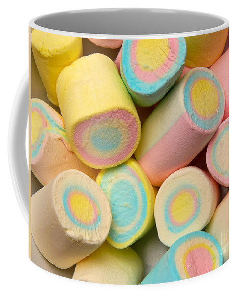 A Lot Coffee Mug featuring the photograph Pastel Colored Marshmallows by Amy Cicconi