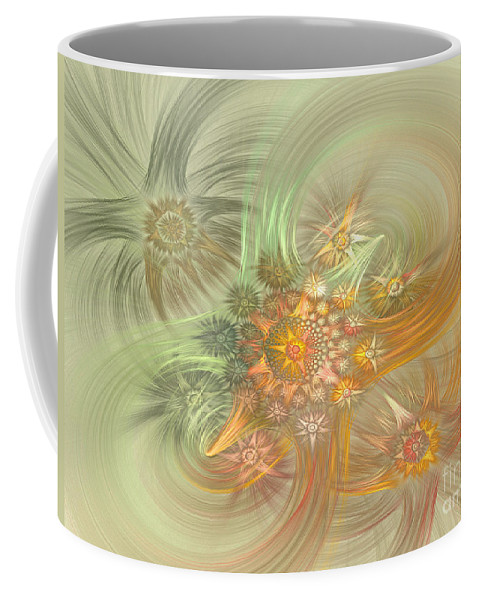 Fractal Coffee Mug featuring the digital art Pastel Delicate Pattern by Deborah Benoit