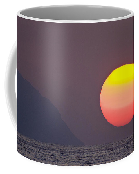 Sunset Coffee Mug featuring the photograph Pastel Sun by Sean Davey