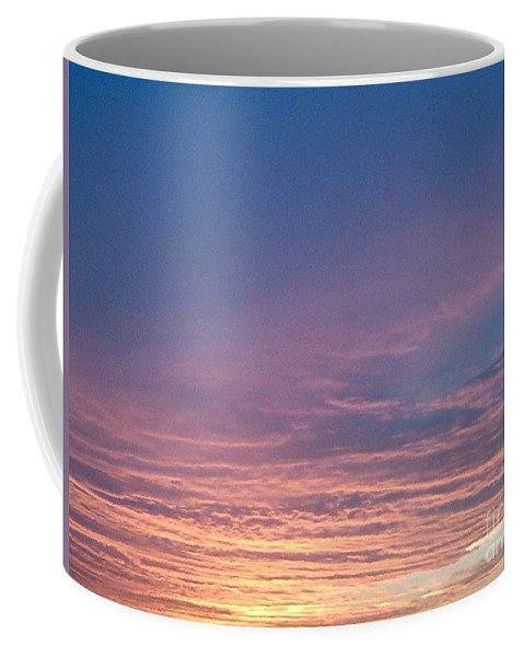 Sunset Coffee Mug featuring the photograph Pastel Sunset by Miriam Danar