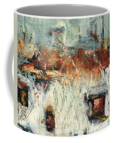 Abstract Landscapes Coffee Mug featuring the painting Pasture Grasses by Frances Marino