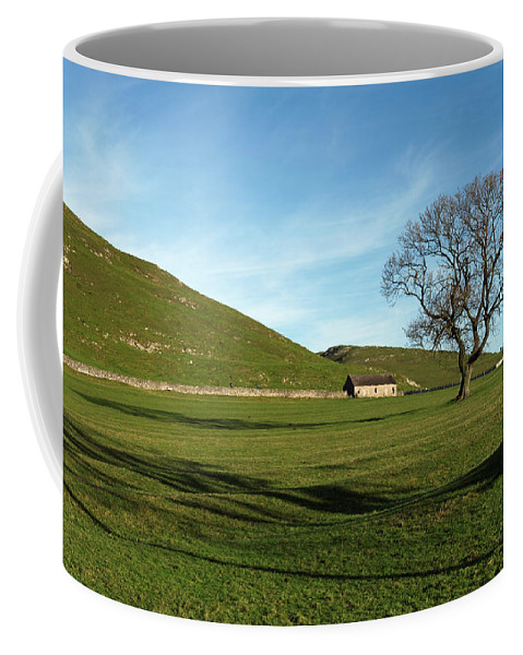 Britain Coffee Mug featuring the photograph Pasture Land At Thorpe - Derbyshire by Rod Johnson