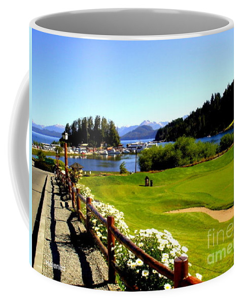 Landscape Coffee Mug featuring the painting Patagonia by Helena Wierzbicki
