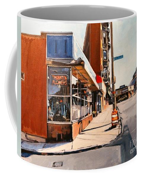 Thorton Coffee Mug featuring the painting Path To Forgiveness by Deb Putnam
