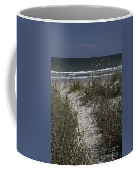 Surfside Coffee Mug featuring the photograph Path To The Beach by Teresa Mucha